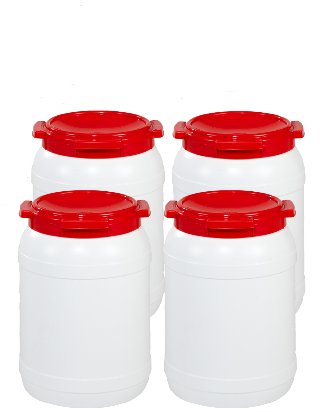 20 Litre Wide Neck Plastic Drum - Pack of 4 Drums